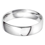 Gents Classic White Gold Wedding Band