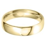 Yellow gold plain wedding band