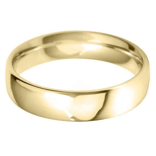 Gents 18ct Yellow Gold 5mm Court Wedding Ring