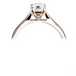18ct Rose Gold Emerald Cut Diamond Solitaire Engagement Ring 0.50ct