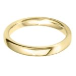 Ladies 18ct Yellow Gold 3mm Court Wedding Ring