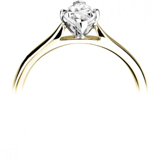 18ct Yellow Gold Marquise Cut Diamond Engagement Ring 0.60ct