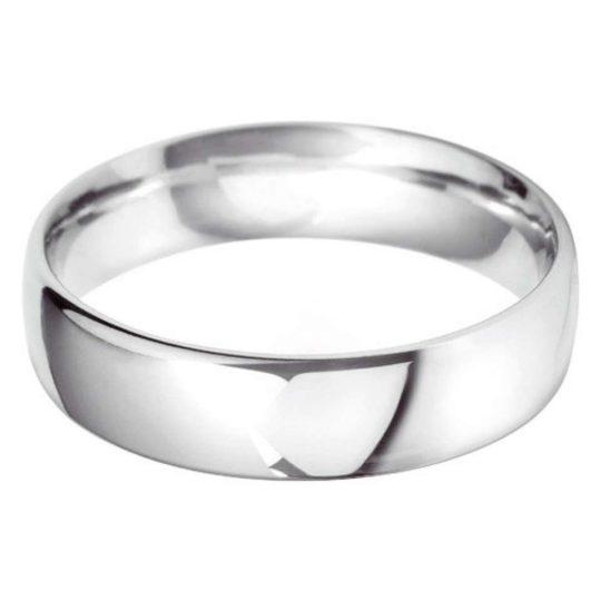 Gents Platinum 6mm Court Wedding Ring