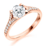 Platinum Brilliant Cut Diamond Engagement Ring 1.00ct