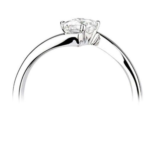 Platinum Princess Cut Diamond Solitaire Engagement Ring 0.50ct