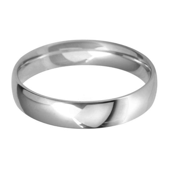 Gents Platinum 4mm Light Court Wedding Ring