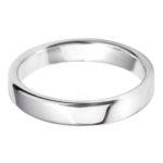 Gents Platinum 4mm Court Wedding Ring