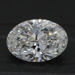 Platinum Oval Cut Diamond Engagement Ring 1.21ct