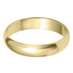 Classic gents gold wedding band