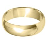 Gents Classic 6mm Yellow Gold Wedding Ring