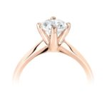 18ct Rose Gold Brilliant Cut Diamond Solitaire Engagement Ring 0.45ct