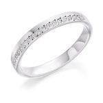 18ct White Gold Brilliant Cut Diamond Offset Wedding Ring 0.15ct
