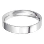 Stylish ladies platinum flat court wedding band