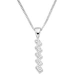 18ct White Gold Princess Cut Diamond Drop Pendant 0.50ct
