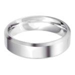 Gents Platinum 6mm Bevelled Edge Wedding Ring