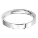 Ladies Platinum 3mm Flat Court Wedding Ring