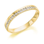 18ct Yellow Gold Brilliant Cut Diamond Offset Wedding Ring 0.15ct