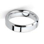 Gents Platinum 5mm Chunky Bevelled Edge Wedding Band