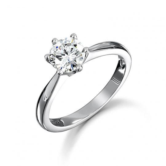 Platinum Brilliant Cut Diamond Solitaire Engagement Ring 0.70ct