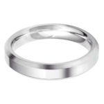 Gents chunky platinum 4mm bevelled edge wedding band