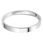 Stylish ladies light flat court wedding band