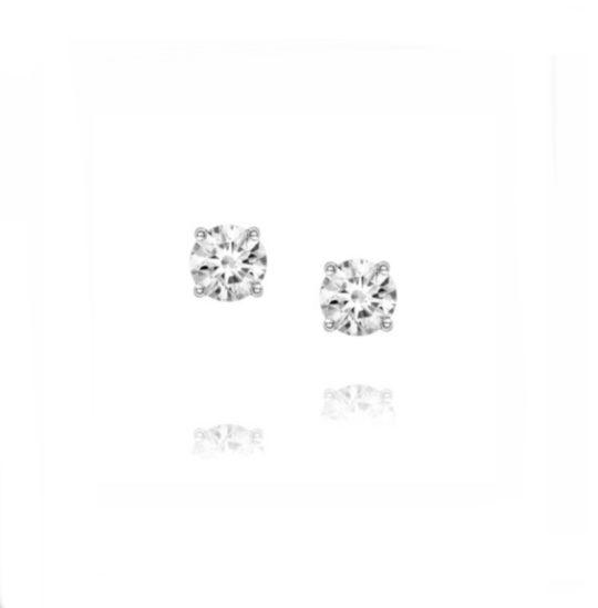 18ct White Gold Brilliant Cut Diamond Stud Earrings 0.40ct