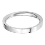 Stylish Females 2.5mm flat court wedding band