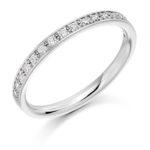 Platinum Brilliant Cut Diamond Grain Set Half Eternity Ring 0.25ct
