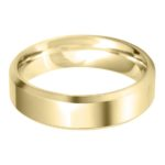 Gents 9ct Yellow Gold 6mm Bevelled Edge Wedding Ring