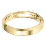 Gents heavy weight 6mm yellow gold bevelled edge wedding band