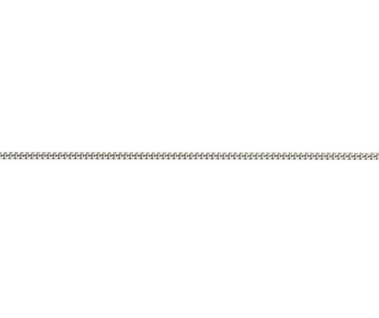18ct White Gold 18in Filed Curb Chain