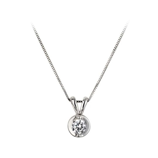 18ct White Gold ROSABELLA Diamond Pendant 0.33ct