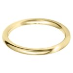 Ladies 9ct Yellow Gold 2mm Court Wedding Ring