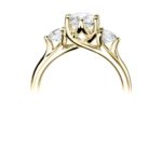 18ct Yellow Gold Brilliant Cut Diamond Trilogy Engagement Ring 1.30ct
