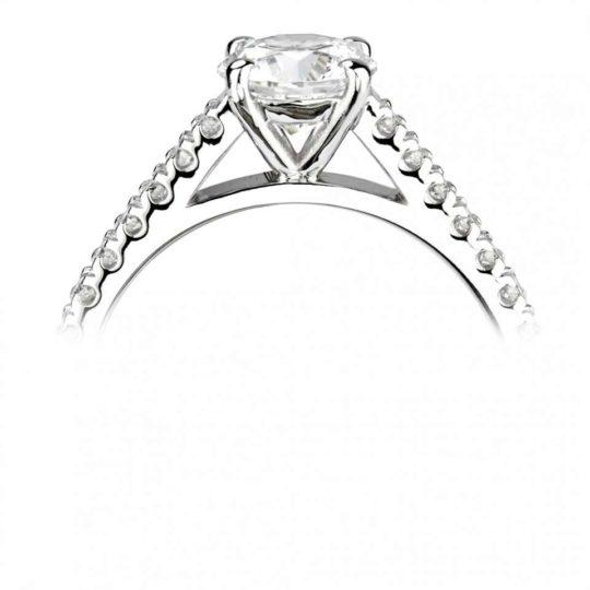 Platinum Brilliant Cut Diamond Engagement Ring 0.74ct