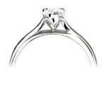 Platinum Pear Shape Diamond Solitaire Engagement Ring 0.50ct