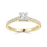 18ct Yellow Gold Brilliant Cut Diamond Engagement Ring 0.74ct