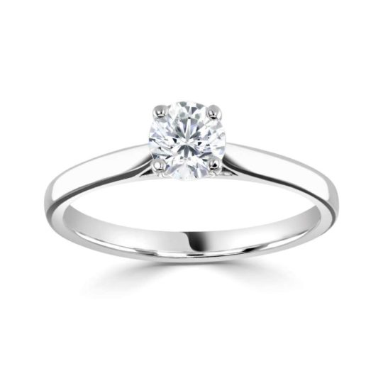 Platinum Brilliant Cut Diamond Solitaire Engagement Ring 0.60ct