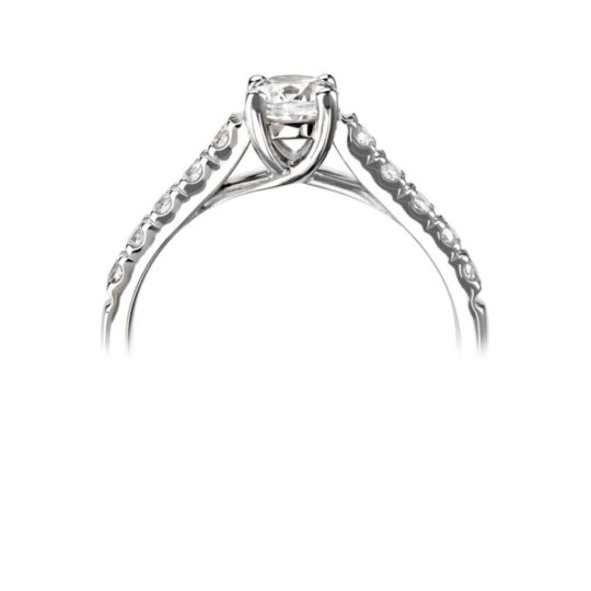 Platinum Brilliant Cut Diamond Engagement Ring 1.05ct