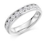 18ct White Gold Brilliant Cut Diamond Channel Set Half Eternity Ring 1.00ct