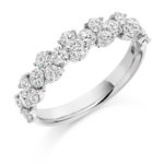 Platinum Brilliant Cut Diamond Claw Set Fancy Dress Ring 1.20ct