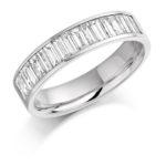 18ct White Gold Baguette Cut Diamond Channel Set Half Eternity Ring 1.00ct