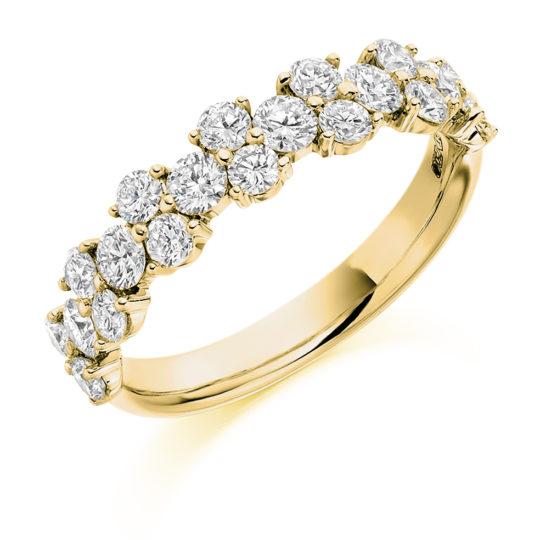 18ct Yellow Gold Brilliant Cut Diamond Claw Set Fancy Dress Ring 1.20ct