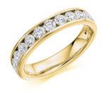 18ct Yellow Gold Brilliant Cut Diamond Channel Set Half Eternity Ring 1.00ct