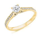 18ct Yellow Gold Brilliant Cut Diamond Engagement Ring 0.65ct