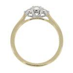 18ct Yellow Gold Brilliant Cut Diamond Trilogy Engagement Ring 0.35ct