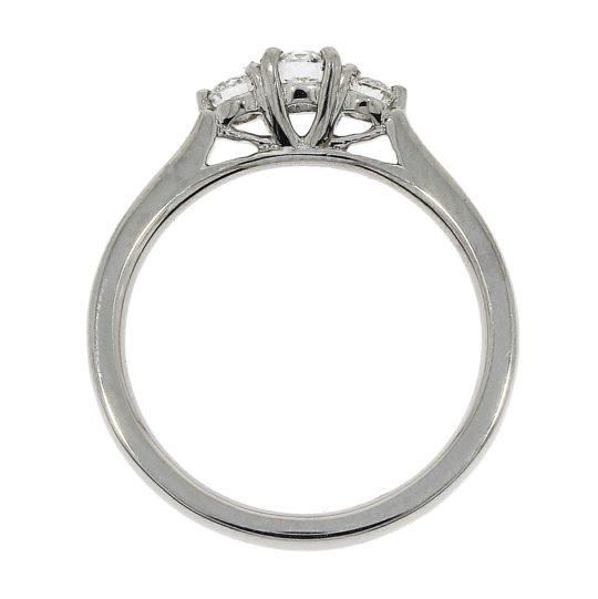 Platinum Brilliant Cut Diamond Trilogy Engagement Ring 0.35ct