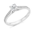 Platinum Brilliant Cut Diamond Engagement Ring 0.65ct