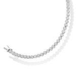 Platinum Brilliant Cut Diamond Bezel Set Tennis Bracelet 4.00ct