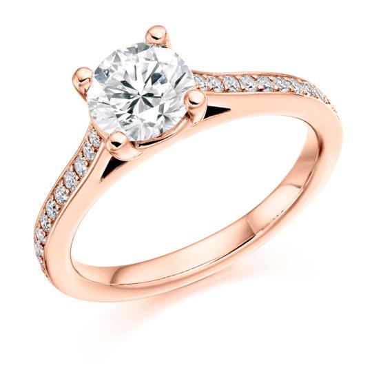 18ct Yellow Gold Brilliant Cut Diamond Engagement Ring 1.25ct